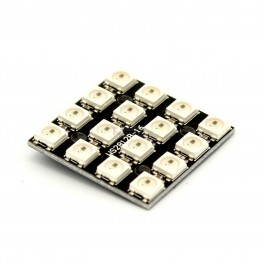 16 x WS2812 5050 RGB LED Square with Integrated Drivers (Neopixel Compatible)