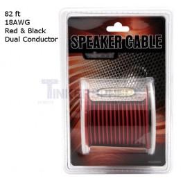Red / Black Speaker Wire: 82 foot Spool