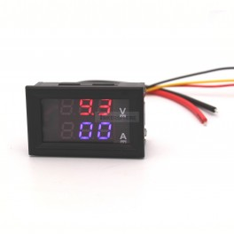 Digital Volt and Amp Meter Simultaneous Display