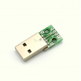 Male USB Plug Breakout Board - Type A