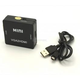 VGA to HDMI Converter Box / 1080p with Audio