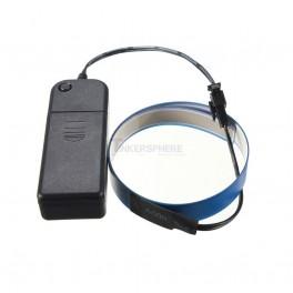 "Blue EL Tape + Battery Pack (14mm Wide x 24"")"
