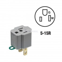 3 Prong to 2 Prong Grounding Adapter