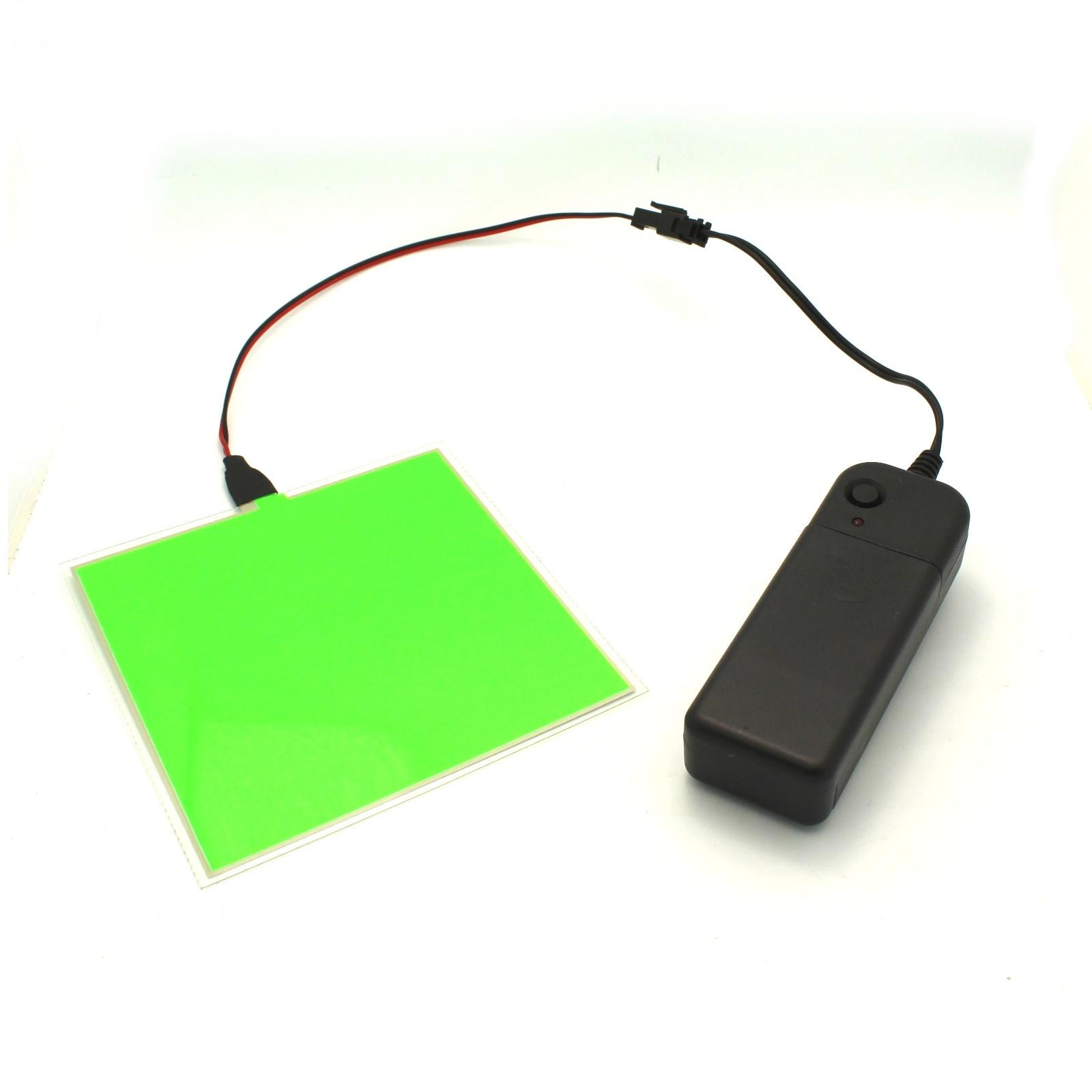 $17.99 - Cuttable Green EL Panel + Battery Pack - Tinkersphere