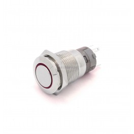 Momentary 16mm Button LED Red