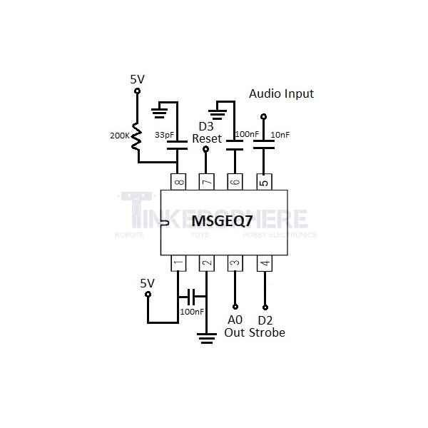 MSGEQ7 Graphic Equalizer Display Filter