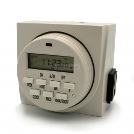 Programmable Timer for 2 US Outlets
