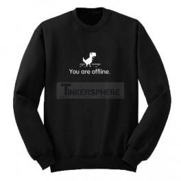 You Are Offline Chrome Dinosaur Sweatshirt