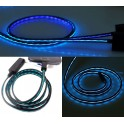 Black with Blue Strip Trickle Flowing Micro USB Charging Cable