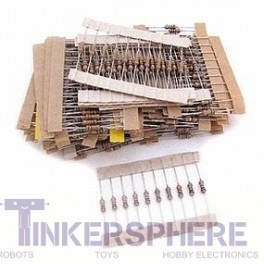 Resistor Value Pack: 480pc 1/4W 5%