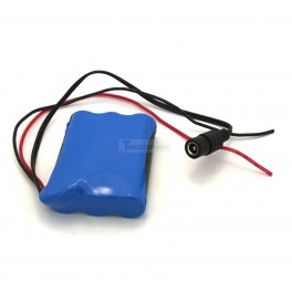 12V Lipo Battery with DC Jack and Wire Leads