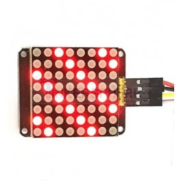 I2C LED Dot Matrix Display, Red, 8 x 8