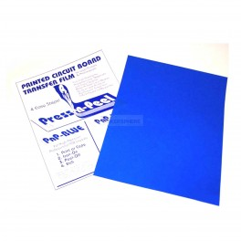 Press-n-Peel Blue PCB Toner Transfer Paper A4 (1 Sheet)