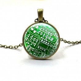 Bronze Circuit Board Necklace