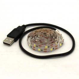 Cool White USB Powered LED Strip - 3.28ft