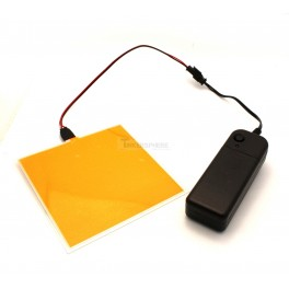 Cuttable Yellow EL Panel + Battery Pack