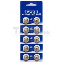 AG13 / LR44 1.5V Coin Cell Batteries (10 Pack)