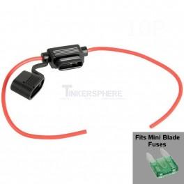 Mini Blade Fuse Holder Inline ATM 10.9x3.6x16.3mm