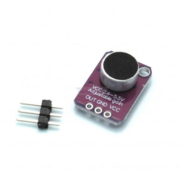 electret microphone amplifier max4466 with adjustable gain tinkersphere. Black Bedroom Furniture Sets. Home Design Ideas