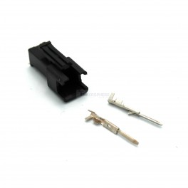 Male 2 Pin JST SM Crimp Connector