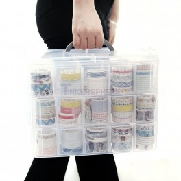 30 Compartment Storage Box with Handle