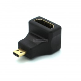 Right Angle Micro HDMI to HDMI Adapter (works for Raspberry Pi 4)