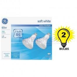 GE Soft White 65 Watt R30 Floodlight 2-Pack