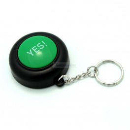 Yes Button Keychain