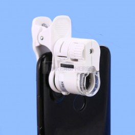Cell Phone Microscope Adapter: 60x Magnification with Dual LED and UV Lamps