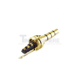 Gold 4 Pole Audio Plug