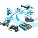 6 in 1 RC Kit: Drone, Hovercraft, Airplane, Tank, Trike and Gyrobot All in 1 Set