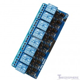 8 Channel 2.5 - 5 V Relay Module (Arduino & Raspberry Pi Compatible)