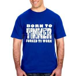 Blue Born to Tinker T-Shirt