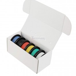 Stranded Silicone Hook Up Wire Box Set: 6 Color 47.5m / 156 ft Pack