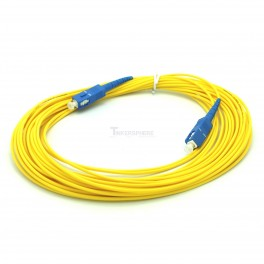 Fiber Optic 10m SC UPC to SC UPC G657A Fiber Patch Cable, Patch Cord Simplex 2.0mm SC PC TO SC PC PVC SM Bend Insensitive