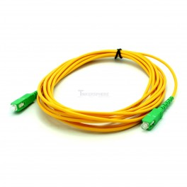 Fiber Optic 5m SC APC to SC APC 9/125 Fiber Patch Cable, Patch Cord Simplex 3.0mm SC APC TO SC APC PVC SM Bend Insensitive