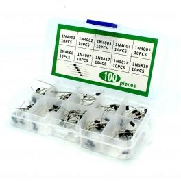 Rectifier Diode Box Set: 1N4001, 1N4002, 1N4003, 1N4004, 1N4005, 1N4006, 1N4007, 1N5817, 1N5818, 1N5819