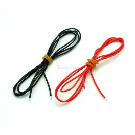 24AWG Silicone Wire Pack Red & Black 3.28ft each