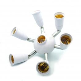 7 to 1 Light Bulb Socket Splitter Spotlight