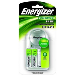 Energizer Basic Rechargeable Batteries + Charger AA