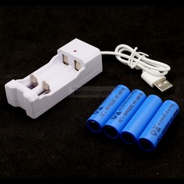 USB Rechargeable AA Batteries & Charger Set