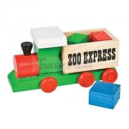 Wooden Zoo Train