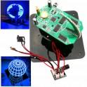 DIY Spherical Rotating LED Kit POV Soldering Training Kit