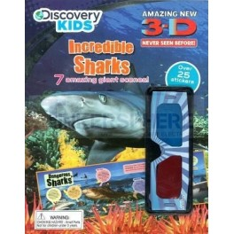 Discovery Kids Incredible Sharks 3D Sticker Fun Activity Book