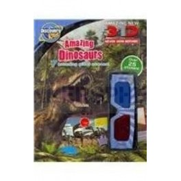 Discovery Kids Incredible Dinosaurs 3D Sticker Fun Activity Book