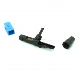 FTTH SC/UPC Single-Mode Optical Fiber Cable Quick Connector Adapter for CATV Network Blue Black