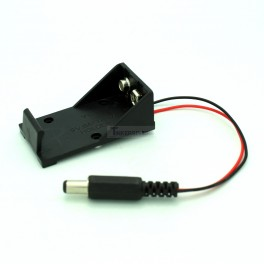 9V Battery Holder with 5.5x2.1mm DC Plug