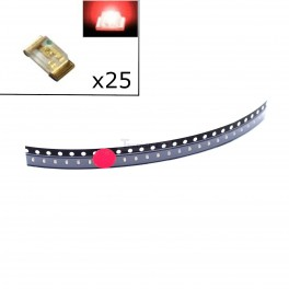 Red SMD LEDs - 0603 (pack of 25)