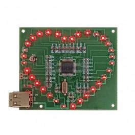 SMD LED Heart Soldering Kit