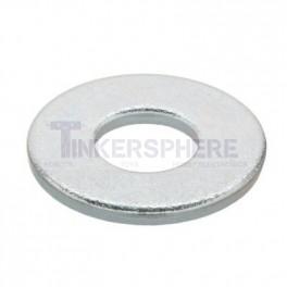 Flat Zinc Washers Size 10 - 65 pack